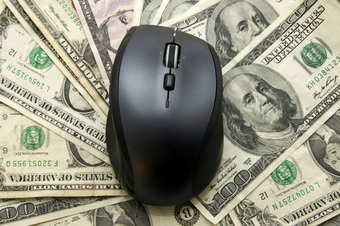Computer Mouse on U.S. Money