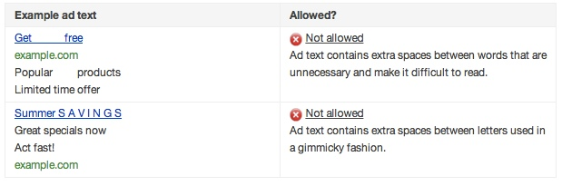 AdWords Policy: 2 Reasons Your Ad Text Gets Disapproved