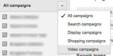 AdWords Filter—All Campaigns