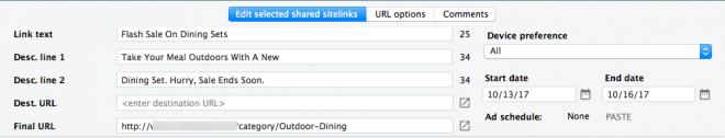 Sitelink Scheduling