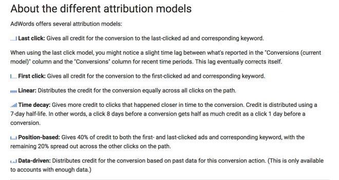 AdWords Attribution Models