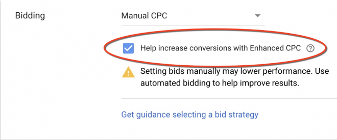 PPC changes - opt out of ECPC