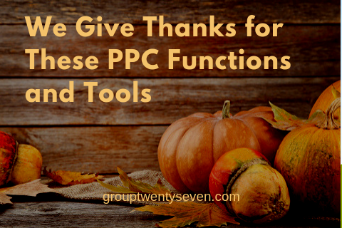 PPC Functions and Tools We're Grateful For