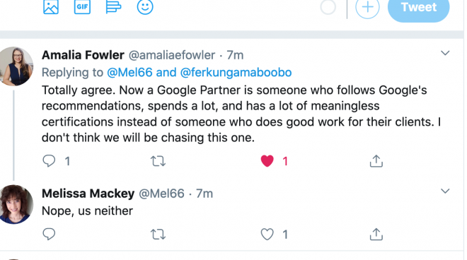 Google Ads Partner Badge discussion