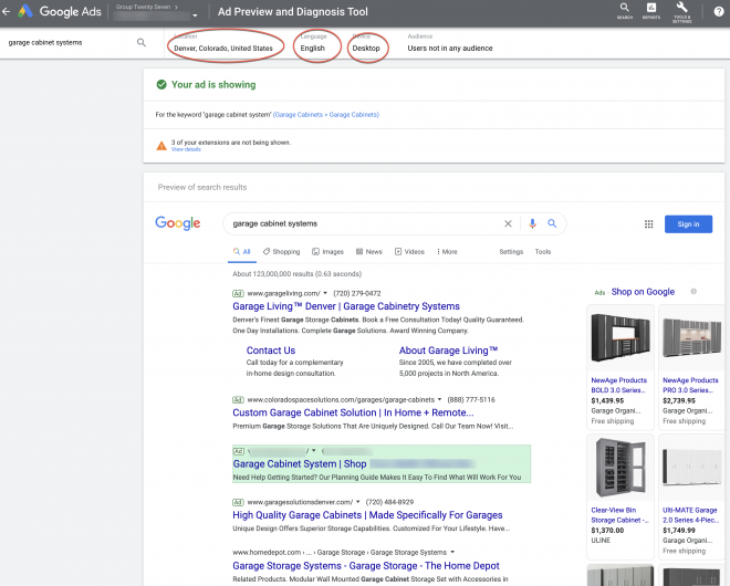 PPC Ad Messaging - Google Ads Preview Tool
